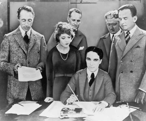 United Artists contract signing in 1919.