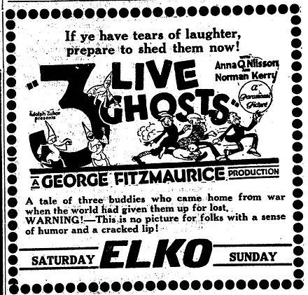 Three Live Ghosts ticket